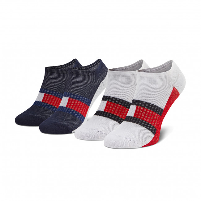 Súprava 2 párov kotníkových ponožiek detských TOMMY HILFIGER - 100002327 Tommy Original 001