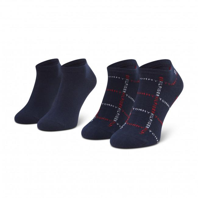 Súprava 2 párov kotníkových ponožiek pánských TOMMY HILFIGER - 100002658 Tommy Original 003