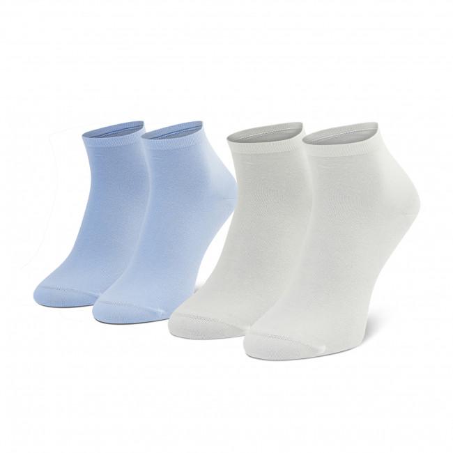 Súprava 2 párov kotníkových ponožiek dámskych TOMMY HILFIGER - 373001001 Light Blue  101