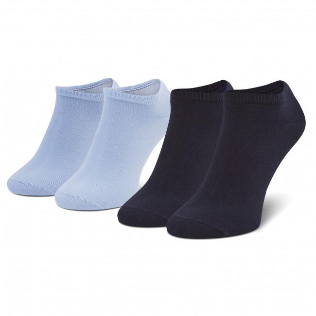 Súprava 2 párov kotníkových ponožiek pánských TOMMY HILFIGER - 342023001 Light Blue  101