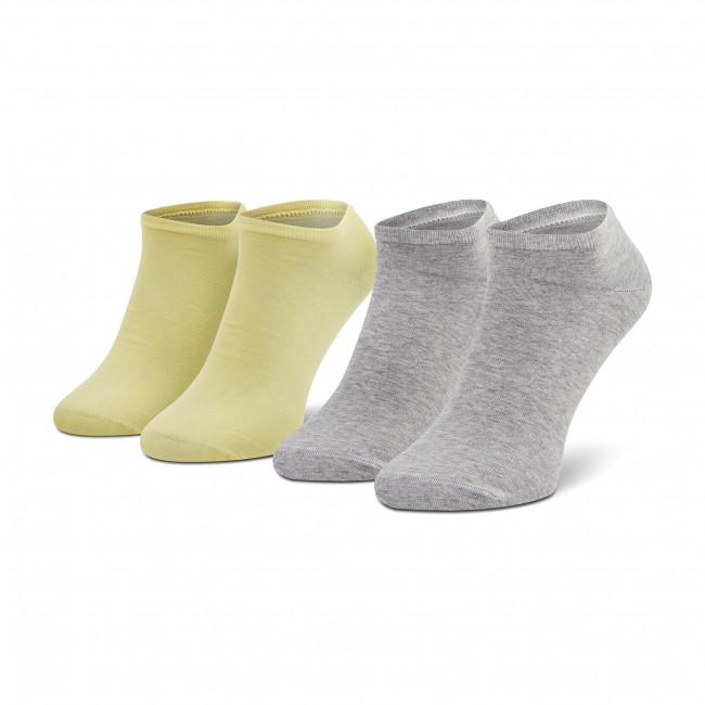 Súprava 2 párov kotníkových ponožiek unisex TOMMY HILFIGER - 343024001  Yellow 100