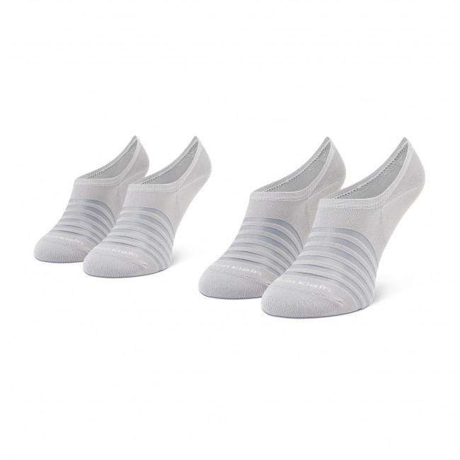 Súprava 2 párov krátkych ponožiek dámskych CALVIN KLEIN - 100003031 r.OS Grey Combo 002