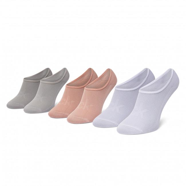 Súprava 3 párov kotníkových ponožiek dámských CALVIN KLEIN - 100003033  Rose Combo 003