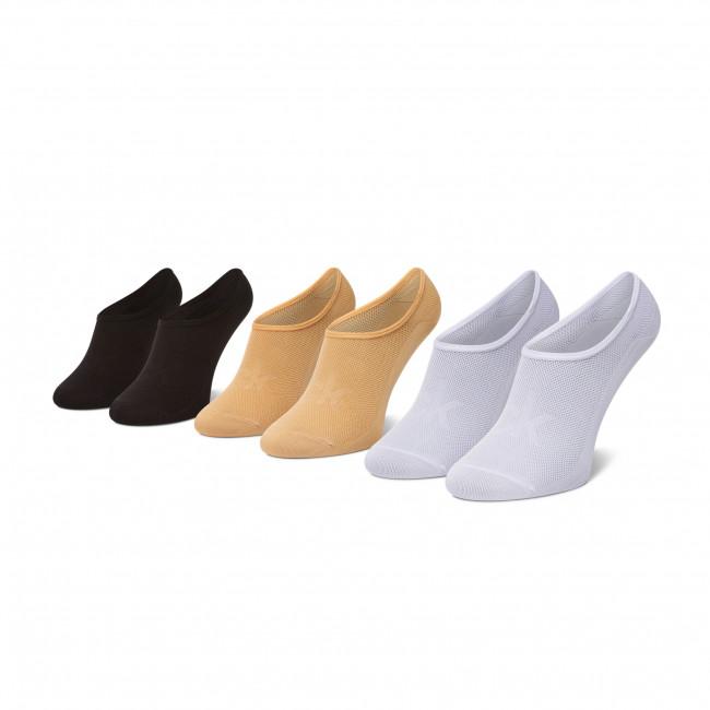 Súprava 3 párov kotníkových ponožiek dámských CALVIN KLEIN - 100003033  Sand Combo 004