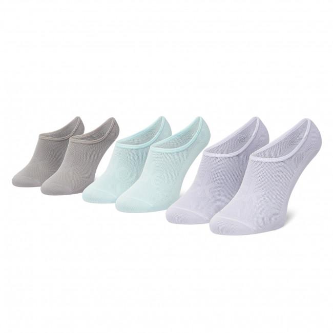 Súprava 3 párov kotníkových ponožiek dámských CALVIN KLEIN - 100003033  Green Combo