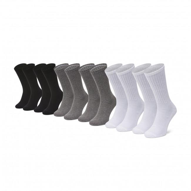 Súprava 6 párov vysokých  ponožiek pánskych CALVIN KLEIN - 100003124  Grey Combo 002