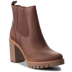 Členková obuv TOMMY HILFIGER - Casual Heeled Chelse FW0FW03058 Winter  Cognac 906 587618fdd3f