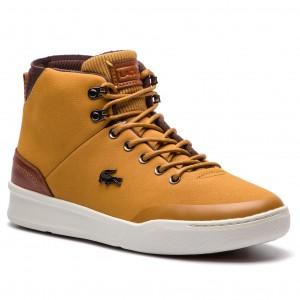 Sneakersy LACOSTE - Explorateur Classic 318 2 Cam 7-36CAM0026TB2 Tan Brw 55e43574cd1