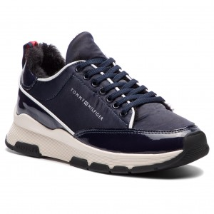 Sneakersy TOMMY HILFIGER - Cool Technical Satin Sneaker FW0FW03970 Midnight  403 a1b028c2daa