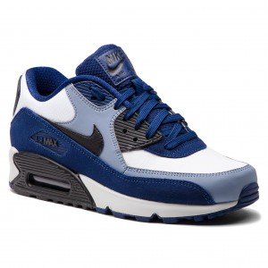 75428fc0085 Topánky NIKE - Air Max 90 Leather 302519 400 Blue Void Black Ashen Slate