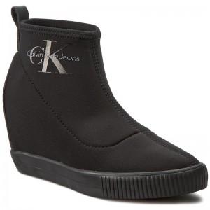 5639868a6 Čižmy CALVIN KLEIN JEANS - Shuana RE9767 Black - Kotníková obuv ...