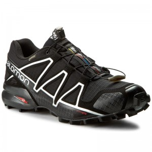 Topánky SALOMON Speedcross 4 Gtx GORE-TEX 383181 26 G0 Black Black Silver  Metallic-X 63fb0d06012