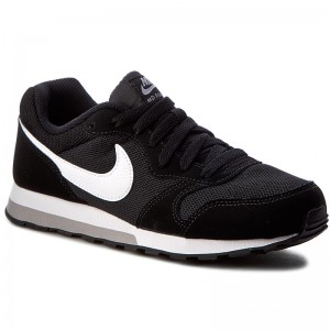 Topánky NIKE Md Runner 2 (GS) 807316 001 Black White Wolf Grey f63f351fdc9