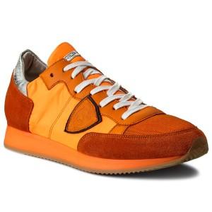 Sneakersy PHILIPPE MODEL Tropez TRLU NT11 Neon Orange e91138ed736