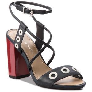 f4310114a999a1 ... Sandal Whit Eyelet FW0FW02210 Midnight 403 good quality a1cf9 f4d78   Obuwie letnie Sandały TOMMY HILFIGER - Feminine Heel Oversized Buckle  FW0FW02578 ...