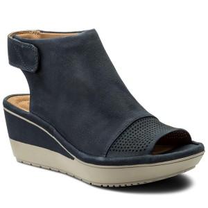 bf8002ced431 Sandále CLARKS - Wynnmere Abie 261339834 Navy Nubuck