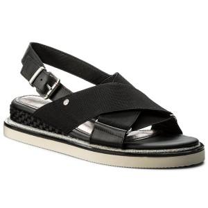 2c8ae982420d51 ... Sandále TOMMY HILFIGER - Sporty Strech Sandal FW0FW02241 Black 990  exquisite style 53d68 4342f ...