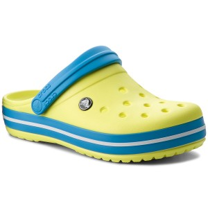 Šľapky CROCS - Crocband 11016 Tennis Ball Green Ocean fb7d3771b2