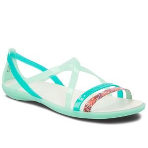 dacf1263a3e6 Sandále CROCS - Isabella Cut Grph 205150 New Mint Oyster