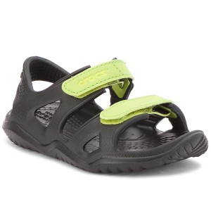 a002016b8c7b Sandále CROCS - Swiftwater River Sandal K 204988 Black Volt Green