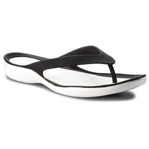 Žabky CROCS - Swiftwater Flip W 204974 Black White 5772ac4ed3