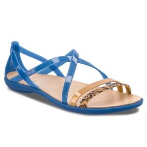 38b356da7588 Sandále CROCS - Isabella Grph Strappy 205084 Blue Jean Gold
