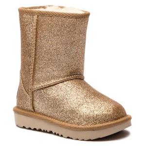 Topánky UGG - T Classic Short II Glitter 1098491T T Gold 119792b7a52