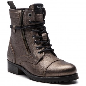 Členková obuv PEPE JEANS - Melting Metal PLS50351 Chrome 952 70187a65c6c