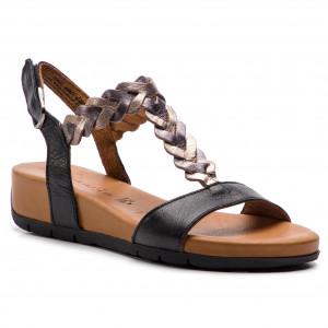 e9fda453b9470 Sandále TAMARIS - 1-28030-32 Cognac Leather 348 - Na klíne - Šľapky ...