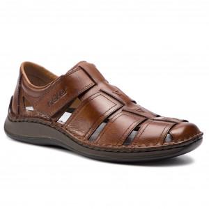 Sandále RIEKER 05282-25 Braun 1c369a1b8b