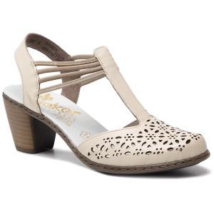 8428f90cb517 Sandále RIEKER 40969-80 Weiss
