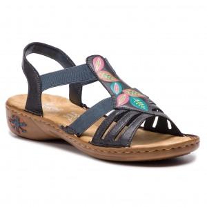 Sandále RIEKER 60171-14 Blau cdeed8fbcc5