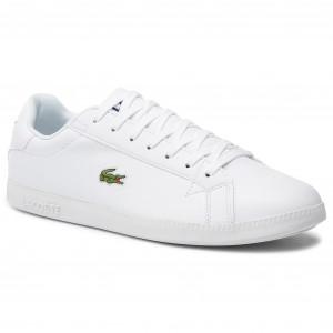 f3ad97f567 Sneakersy LACOSTE Graduate Bl 1 SMA 737SMA005321G Wht Wht