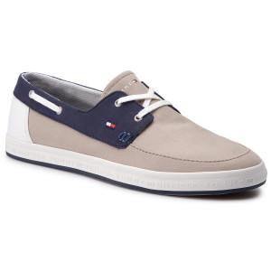 2175ecca58139 Tenisky TOMMY HILFIGER Seasonal Core Boat Shoe Sneaker FM0FM02205  Cobblestone 068