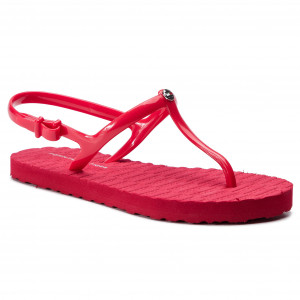 112f621ef2 Sandále TOMMY HILFIGER - Flat Strappy Beach Sandal FW0FW03923 Tango Red 611