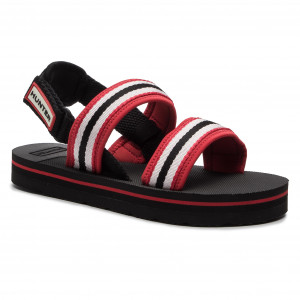 e12b6e6866 Sandále HUNTER Original Beach Sandal WFD4025WEB Red White Black