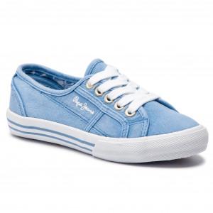 c94dcfaf7d7a3 Tenisky PEPE JEANS - Baker Canvas PGS30381 Summer Blue 534