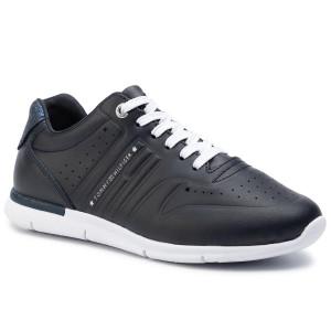 0e2c985ef2dd8 Sneakersy TOMMY HILFIGER - Glitter Detail Light Sneaker FW0FW04141 Midnight  403