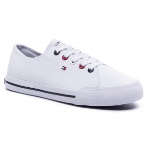 8d2fdb9ed2f7 Tenisky TOMMY HILFIGER - Tommy Essential Sneaker FW0FW04139 White 100