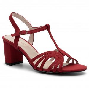 2aa09595afae Sandále SAGAN - 3198 Czerwony Welur
