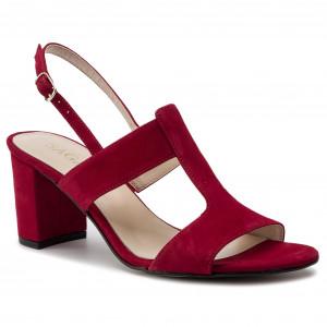 6335820ac960 Sandále SAGAN - 3607 Czerwony Welur