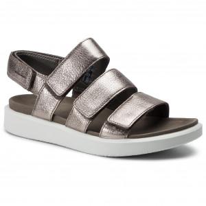 f4a1f632ca122 Sandále ECCO - Flowt W 27363354893 Warm Grey Metallic