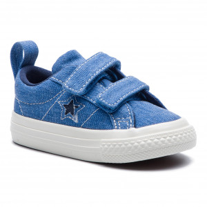 7e4eabdae87df Tenisky CONVERSE One Star 2V Ox 764172C Totally Blue/Navy/Egret