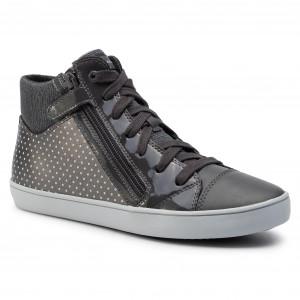 0d080277e6 Sneakersy GEOX J Gisli G. C J944NC 0AJ54 C0710 D Dk Grey Silver