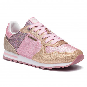 10de85a336845 Sneakersy PEPE JEANS - Verona W Mix Pink PLS30804 Chewing Gum 334