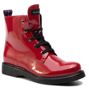 cfb807ba4 Čižmy TOMMY HILFIGER Lace-Up Bootie T4A5-30445-0765300 Red D