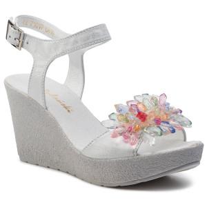 23c05bf22f10d Sandále R.POLAŃSKI - 1019 Srebrny Precierany