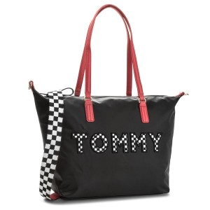 046a37f9537 Kabelka TOMMY HILFIGER - Poppy Tote Tommy Print AW0AW05311 904