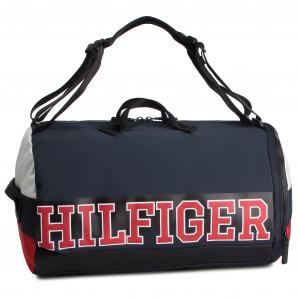 Taška TOMMY HILFIGER - Varsity Nylon Duffle Convertible AM0AM04521 901 1ccab568056